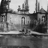 Fountain, Hellbrunn Castle, Salzburg, Austria, C1900 Photographic Print by  Wurthle & Sons