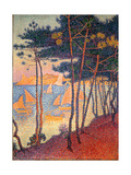 Sails and Pines Gicléetryck av Paul Signac