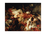Death of Sardanapalus Giclee Print by Eugène Delacroix
