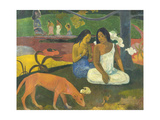 Arearea (Joke), 1892 Giclee Print by Paul Gauguin