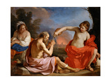 Lot and His Daughters Lámina giclée por  Guercino