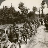 Bringing Up Reserve Ammunition, World War I, 1914-1918 Photographic Print