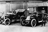 Chauffeurs with a 1906 Daimler and Renault, C1906 Photographic Print