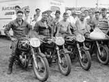 Matchless Motorbike Racing Team Photographic Print