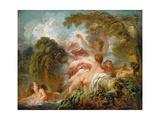 Bathers (Les Baigneuse) Reproduction procédé giclée par Jean-Honoré Fragonard