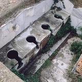 Roman Toilet, Ostia, Italy Photographic Print