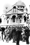 German Soldiers Outside the Sacre Coeur, Montmartre, Paris, 10 October 1940 Photographic Print