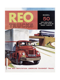 Poster Advertising Reo Trucks, 1958 Giclee Print