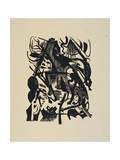 Birth of the Wolf Giclee Print by Franz Marc