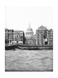 Lighters Passing St Paul's Wharf with St Paul's Cathedral in the Background, London, C1905 Photographic Print