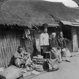 Native Shop and Customers, Near Mogok, Northern Burma, C1900s Photographic Print by  Underwood & Underwood