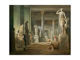 La Salle Des Saisons Au Louvre Giclee Print by Hubert Robert