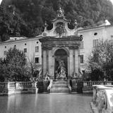 Pferdeschwemme, Salzburg, Austria, C1900 Photographic Print by  Wurthle & Sons