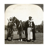 A Sheikh and His Bodyguard, Syria, 1900s Giclee Print