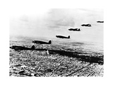 Squadron of German Heinkel He 111 Bombers Flying over Occupied Paris, July 1940 Giclee Print