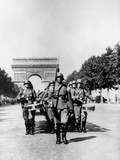 German Military Parade Along the Champs Elysees During the Occupation, Paris, 1940-1944 Photographic Print