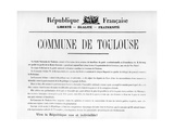 Commune De Toulouse, from French Political Posters of the Paris Commune Giclee Print
