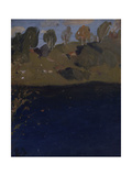At a Lake, Autumn, 1890S Giclee Print by Isaak Ilyich Levitan