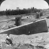 The Ruins of Baalbek (Balabak), Syria, 1900 Photographic Print