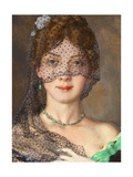 The Lady with the Veil (Manon Lescau) Giclee Print by Konstantin Andreyevich Somov