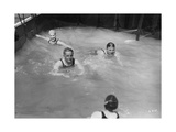 Passengers in the Swimming Pool on Board a Cruise Ship, C1920S-C1930S Giclee Print