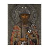 Saint Vsevolod Mstislavich, Prince of Pskov Giclee Print by Vasily Pavlovich Guryanov