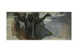 Study for the Slav Epic Giclee Print by Alphonse Mucha