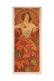 Ruby (From the Series the Gem) Giclee Print by Alphonse Mucha