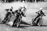 A Speedway Race Fotografisk tryk