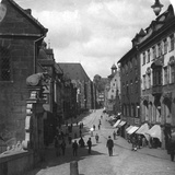 The Fleischbrucke (Meat Bridg), Nuremberg, Germany, C1900s Photographic Print by  Wurthle & Sons