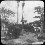 Street Scene with Horse-Drawn Tram, Pernambuco, Brazil, Late 19th or Early 20th Century Photographic Print