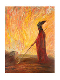 Wotan's Farewell and Magic Fire Giclee Print by Hermann Hendrich