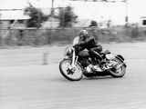 CE Mills Riding a 998Cc Vincent, Silverstone, Northamptonshire, 1959 Photographic Print