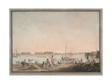 View of St. Petersburg from the Neva, 1808 Giclee Print by Christian Gottlieb Hammer
