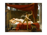 Cupid and Psyche Giclée-tryk af François-Édouard Picot