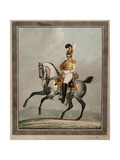Dragoon Officer of the Royal Saxon Army Giclee Print by Alexander Ivanovich Sauerweid