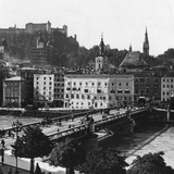 Bridge over the Salzach, Salzburg, Austria, C1900s Photographic Print by  Wurthle & Sons