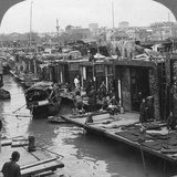 A Street of 'Flower Boats, Canton, China, 1900 Photographic Print