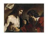 The Incredulity of Saint Thomas Lámina giclée por  Guercino
