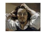 The Desperate Man (Self-Portrai) Giclée-Druck von Gustave Courbet