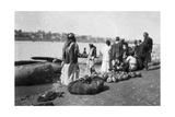 River Craft Laden with Melons, Tigris River, Baghdad, Iraq, 1917-1919 Giclee Print