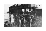 Two Decker Barge Used to Move British Troops Up the Tigris from Amarah to Baghdad, 1918 Giclee Print