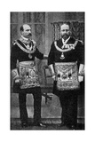 King Edward VII as a Freemason Giclee Print by  Russell