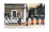 Changing of the Guard, French Foreign Legion, C1910 Giclee Print