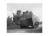 Mobile Artillery Piece, Moronvilliers, France, First World War, 5 May 1917 Giclee Print