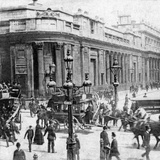 Traffic Passing the Bank of England, London, C Late 19th Century Photographic Print