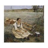 Hay Making, 1877 Giclee Print by Jules Bastien-Lepage