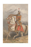Imam Shamil (1797-187) Giclee Print by William Dickes