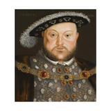Portrait of King Henry VIII of England Giclee Print by Hans Holbein