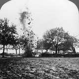 A German Shell Exploding, World War I, 1914-1918 Photographic Print